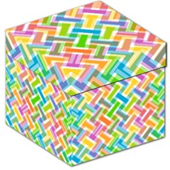 Abstract Pattern Colorful Wallpaper Background Storage Stool 12
