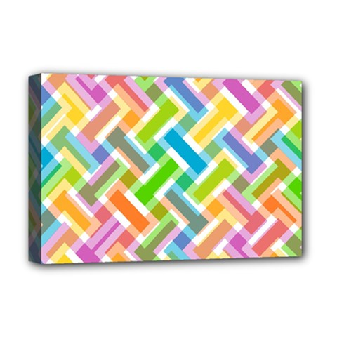 Abstract Pattern Colorful Wallpaper Background Deluxe Canvas 18  x 12