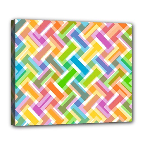 Abstract Pattern Colorful Wallpaper Background Deluxe Canvas 24  x 20