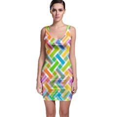 Abstract Pattern Colorful Wallpaper Background Sleeveless Bodycon Dress