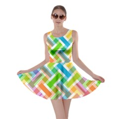Abstract Pattern Colorful Wallpaper Background Skater Dress