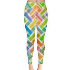 Abstract Pattern Colorful Wallpaper Background Leggings