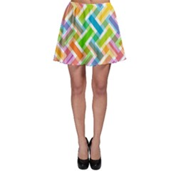 Abstract Pattern Colorful Wallpaper Background Skater Skirt