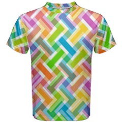 Abstract Pattern Colorful Wallpaper Background Men s Cotton Tee