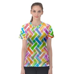 Abstract Pattern Colorful Wallpaper Background Women s Sport Mesh Tee