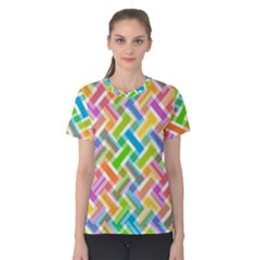 Abstract Pattern Colorful Wallpaper Background Women s Cotton Tee