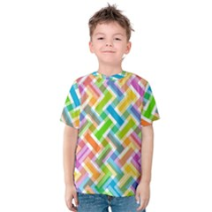 Abstract Pattern Colorful Wallpaper Background Kids  Cotton Tee