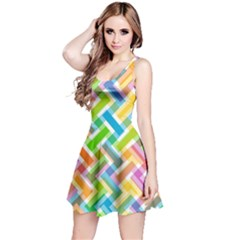 Abstract Pattern Colorful Wallpaper Background Reversible Sleeveless Dress