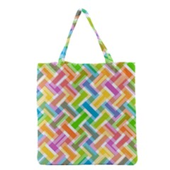 Abstract Pattern Colorful Wallpaper Background Grocery Tote Bag