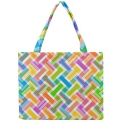 Abstract Pattern Colorful Wallpaper Background Mini Tote Bag by Simbadda