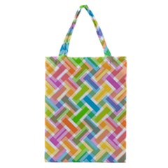 Abstract Pattern Colorful Wallpaper Background Classic Tote Bag