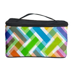 Abstract Pattern Colorful Wallpaper Background Cosmetic Storage Case by Simbadda