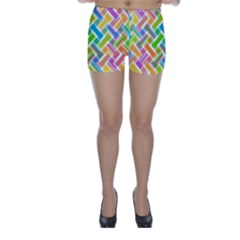 Abstract Pattern Colorful Wallpaper Background Skinny Shorts