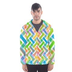 Abstract Pattern Colorful Wallpaper Background Hooded Wind Breaker (Men)