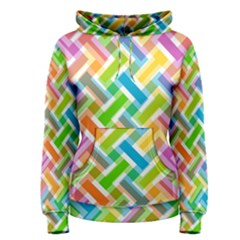 Abstract Pattern Colorful Wallpaper Background Women s Pullover Hoodie