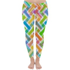 Abstract Pattern Colorful Wallpaper Background Classic Winter Leggings
