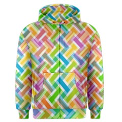 Abstract Pattern Colorful Wallpaper Background Men s Zipper Hoodie