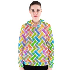 Abstract Pattern Colorful Wallpaper Background Women s Zipper Hoodie