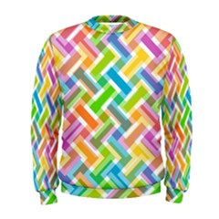 Abstract Pattern Colorful Wallpaper Background Men s Sweatshirt