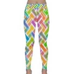 Abstract Pattern Colorful Wallpaper Background Classic Yoga Leggings