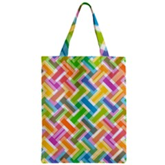 Abstract Pattern Colorful Wallpaper Background Zipper Classic Tote Bag