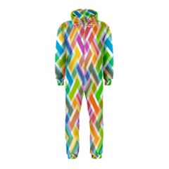 Abstract Pattern Colorful Wallpaper Background Hooded Jumpsuit (Kids)