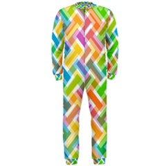 Abstract Pattern Colorful Wallpaper Background OnePiece Jumpsuit (Men)