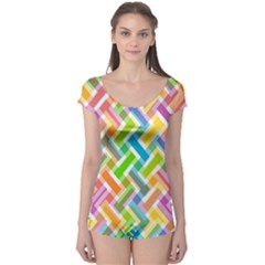 Abstract Pattern Colorful Wallpaper Background Boyleg Leotard
