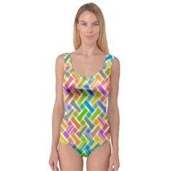 Abstract Pattern Colorful Wallpaper Background Princess Tank Leotard