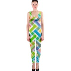 Abstract Pattern Colorful Wallpaper Background OnePiece Catsuit