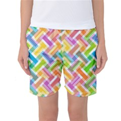 Abstract Pattern Colorful Wallpaper Background Women s Basketball Shorts