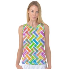 Abstract Pattern Colorful Wallpaper Background Women s Basketball Tank Top