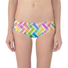 Abstract Pattern Colorful Wallpaper Background Classic Bikini Bottoms
