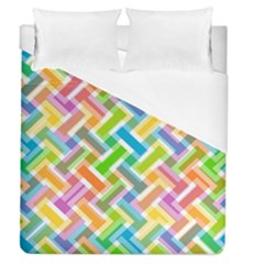 Abstract Pattern Colorful Wallpaper Background Duvet Cover (Queen Size)