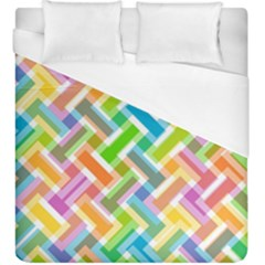 Abstract Pattern Colorful Wallpaper Background Duvet Cover (King Size)