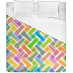 Abstract Pattern Colorful Wallpaper Background Duvet Cover (California King Size)