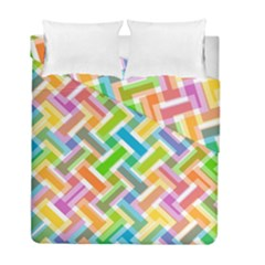 Abstract Pattern Colorful Wallpaper Background Duvet Cover Double Side (Full/ Double Size)