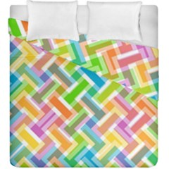 Abstract Pattern Colorful Wallpaper Background Duvet Cover Double Side (King Size)