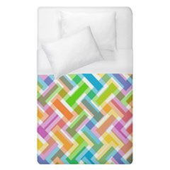 Abstract Pattern Colorful Wallpaper Background Duvet Cover (Single Size)