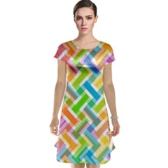 Abstract Pattern Colorful Wallpaper Background Cap Sleeve Nightdress