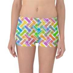Abstract Pattern Colorful Wallpaper Background Reversible Bikini Bottoms