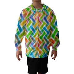 Abstract Pattern Colorful Wallpaper Background Hooded Wind Breaker (Kids)