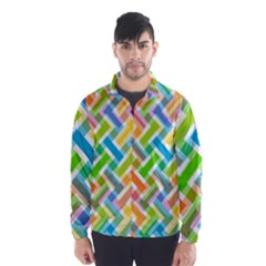 Abstract Pattern Colorful Wallpaper Background Wind Breaker (Men)