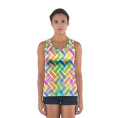 Abstract Pattern Colorful Wallpaper Background Women s Sport Tank Top