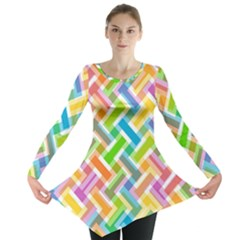 Abstract Pattern Colorful Wallpaper Background Long Sleeve Tunic
