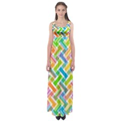 Abstract Pattern Colorful Wallpaper Background Empire Waist Maxi Dress