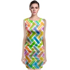 Abstract Pattern Colorful Wallpaper Background Classic Sleeveless Midi Dress