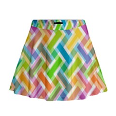 Abstract Pattern Colorful Wallpaper Background Mini Flare Skirt