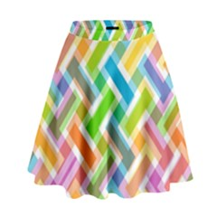 Abstract Pattern Colorful Wallpaper Background High Waist Skirt