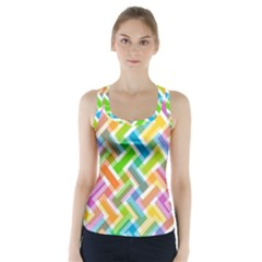 Abstract Pattern Colorful Wallpaper Background Racer Back Sports Top